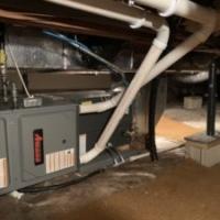 Amana 96% Efficiency Crawl Space Installation